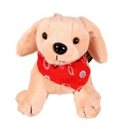 Plüschhund Labrador mit Halstuch