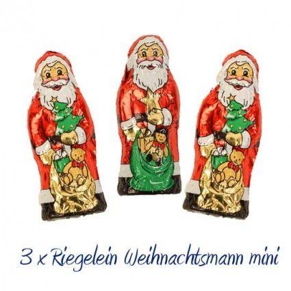 Schoko-Weihnachtsmann Trio von Riegelein