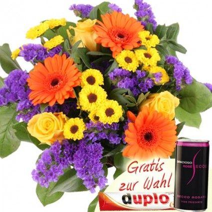 Blumenstrauß Holiday - Blumen online günstig plus Gratis-Zugabe