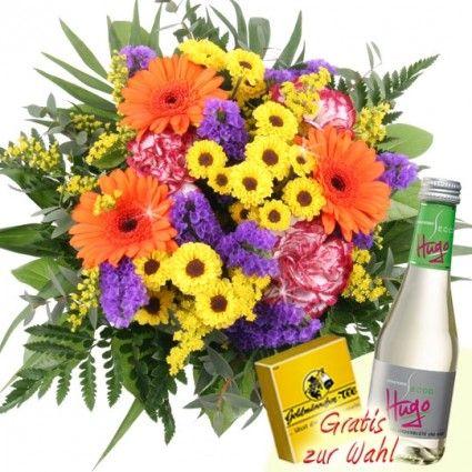 Sommerstrauss Sommerwiese zum Muttertag / Valentinstag mit Schokolade oder Sekt online verschicken schnell und günstig mit Blumenfee - dem Blumenversand
