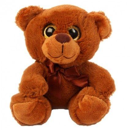 Teddybär mit großen Augen - Dunkelbraun