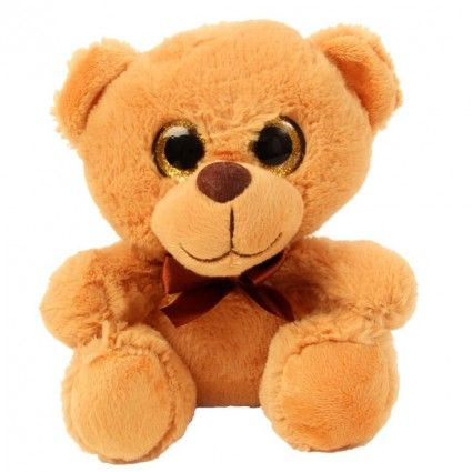 Teddy Plüsch mit großen Augen - Hellbraun