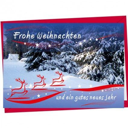 Weihnachtskarte mit Elch passend zu Ihrem Weihnachtsblumenstrauß online gut und günstig verschicken