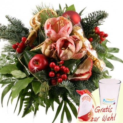 Weihnachtsstrauß Goldene Nacht online verschicken mit Blumenfee / Adentsblumen online