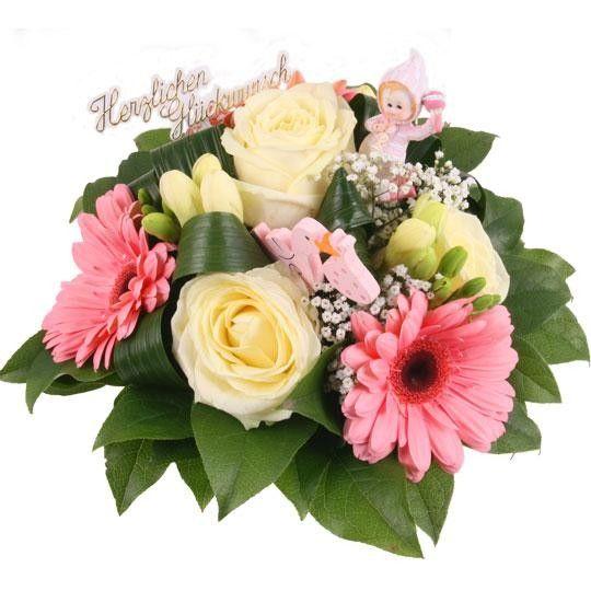 Nützlichblumen - Sweet Girl Blumen zur Geburt - Onlineshop Blumenfee.de