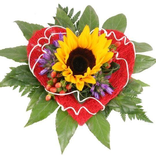 Sonnenblumen Strauß Sonne im Herzen auf Rechnung bestellen