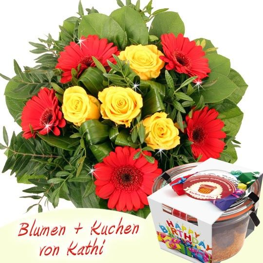 Blumen Kuchen Special Happy Birthday