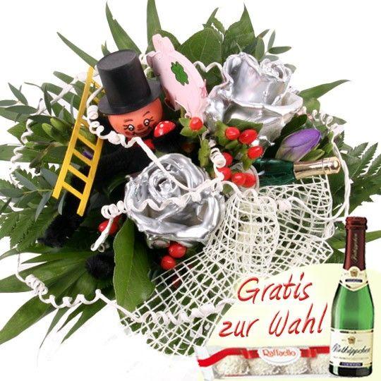 Nützlichblumen - Prosit! Neujahr Wachsrosen Special - Onlineshop Blumenfee.de