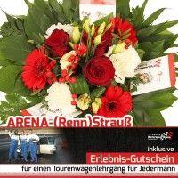 Blumen und Gutschein für Lehrgänge Formel und Tourenwagen