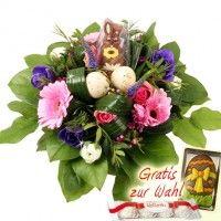 Blumenstrauß Oster-Harmonie mit Schoko-Hase
