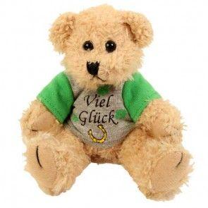 Teddy mit Shirt - Viel Glück