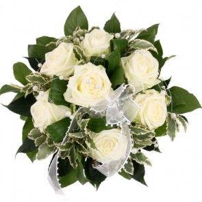Brautstrauß White Dream – Blumen online deutschlandweit versenden mit www.blumenfee.de - dem Brautstrauß - Versand