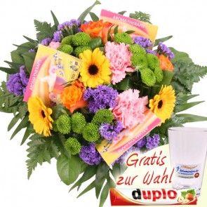 Blumenfee Goldmännchen Special - Blumen und Tee Verwöhnmomente online verschicken