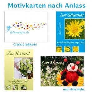 Hochwertige Grusskarten als Ergänzung für Ihren Blumenstrauß online bestellen im Blumenversand Blumenfee www.blumenfee.de