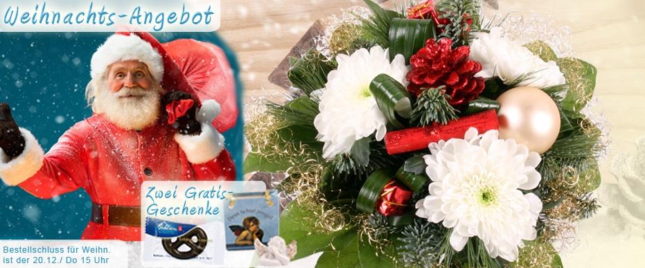 Weihnachts-Blumenstrauß online versenden