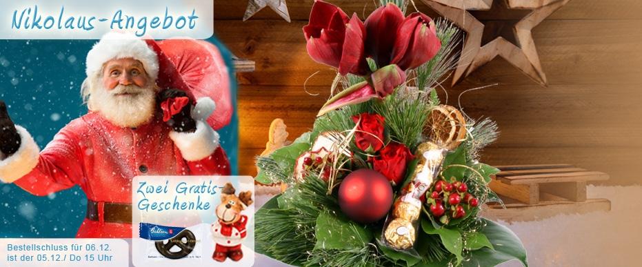 Advents / Weihnachtsstrauss zum Nikolaus online versenden