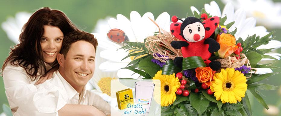 Gluecks Blumenstrauss Kuschel Flower Blumenfee online versenden
