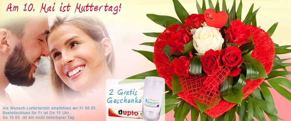 Blumen zum Muttertag online verschicken