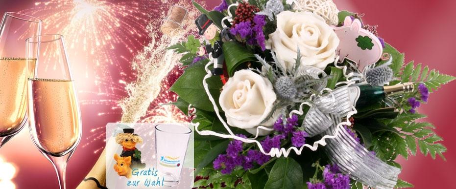 Neujahr Silvester Blumenstrauß online versenden