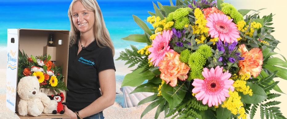 Sommer Blumenstrauß plus Zugabe online versenden