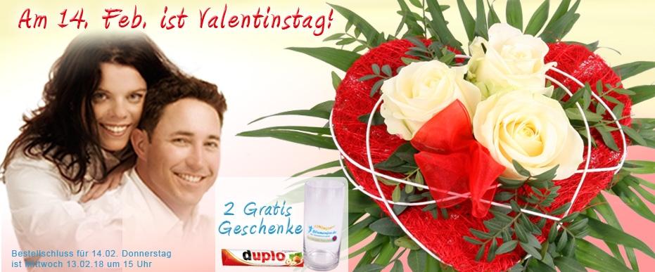 Blumen zum Valentinstag online versenden