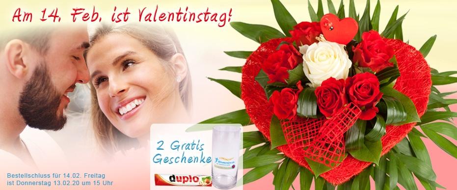Blumenversand zum Valentinstag online