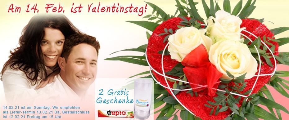 Valentinsstrauss online versenden