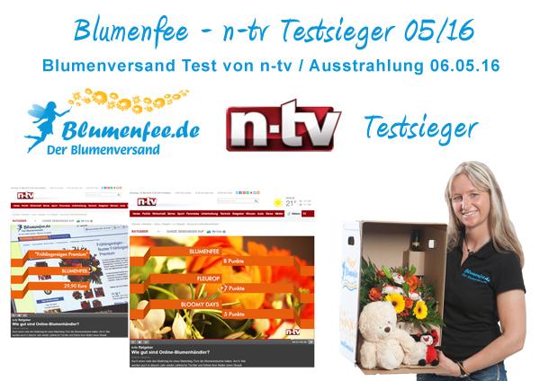 Blumenfee Blumenversand n-tv Testsieger