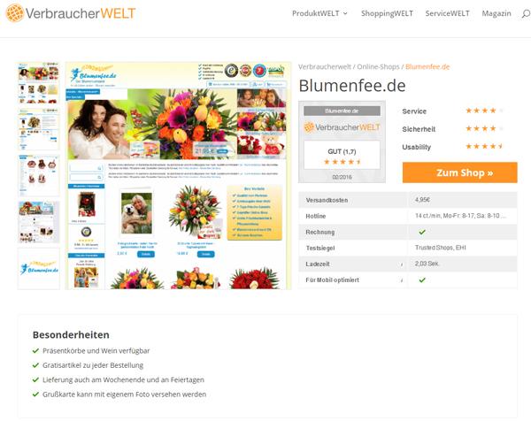 Blumenfee Testsieger Verbraucherwelt